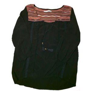 black boho top